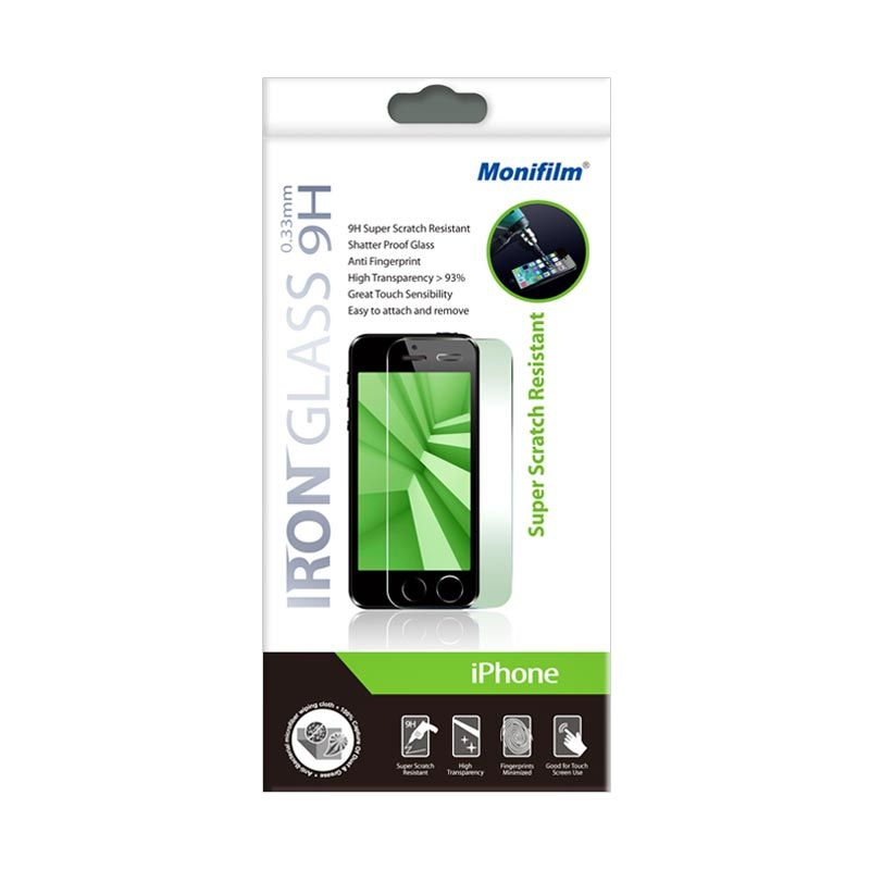 Screen Protector Monifilm iPhone 5SC Iron Glass 9H 0.33mm Round Edge