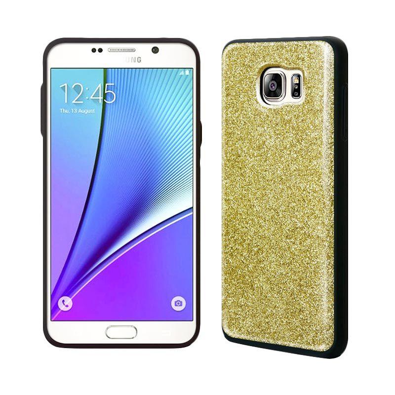 TRIDEA Anti Shock Gold Glitter Casing for Galaxy Note 5