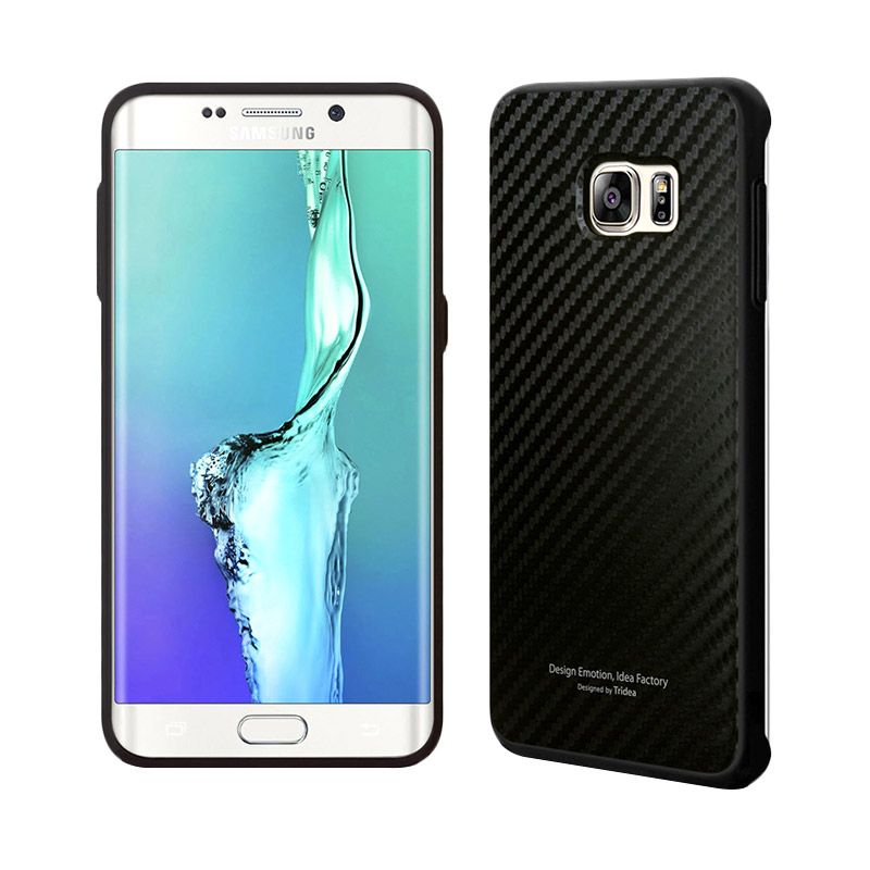 TRIDEA Carbon Anti Shock Black Casing for Galaxy S6 Edge Plus