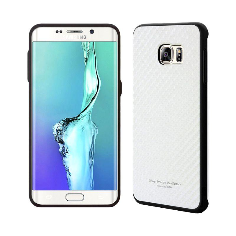 TRIDEA Carbon Anti Shock White Casing for Galaxy S6 Edge Plus