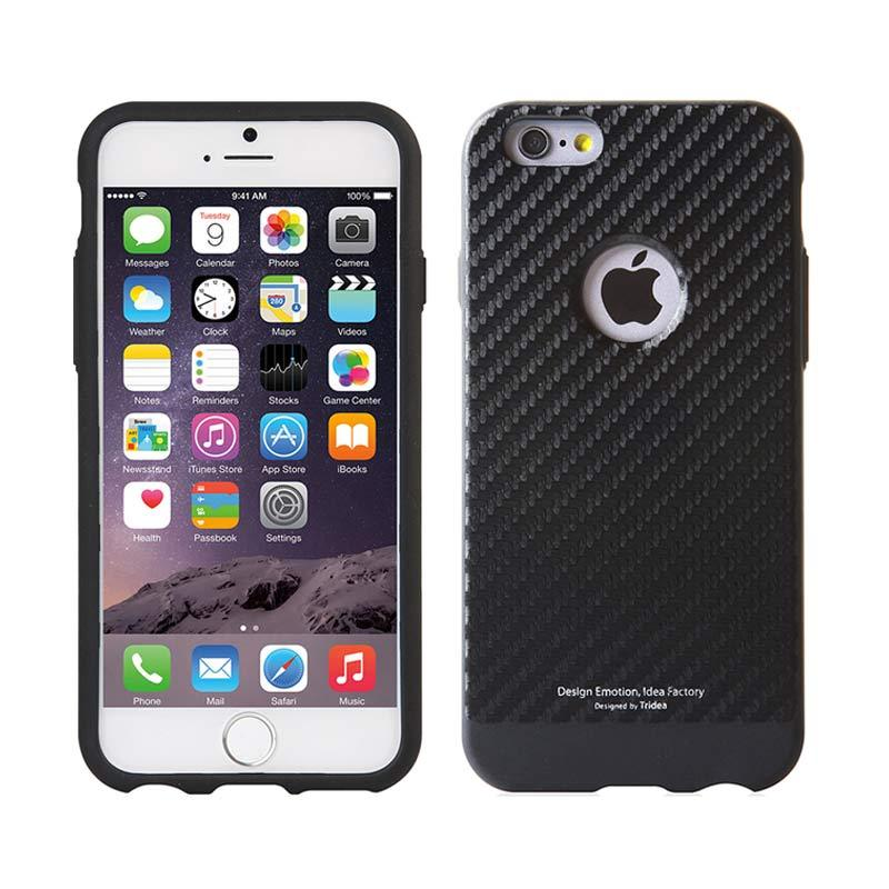 TRIDEA Case Carbon Anti Shock Black Casing for iPhone 6