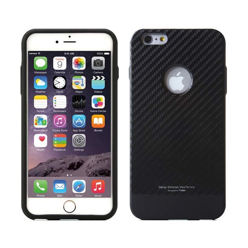 TRIDEA Case Carbon Anti Shock Black Casing for iPhone 6 Plus