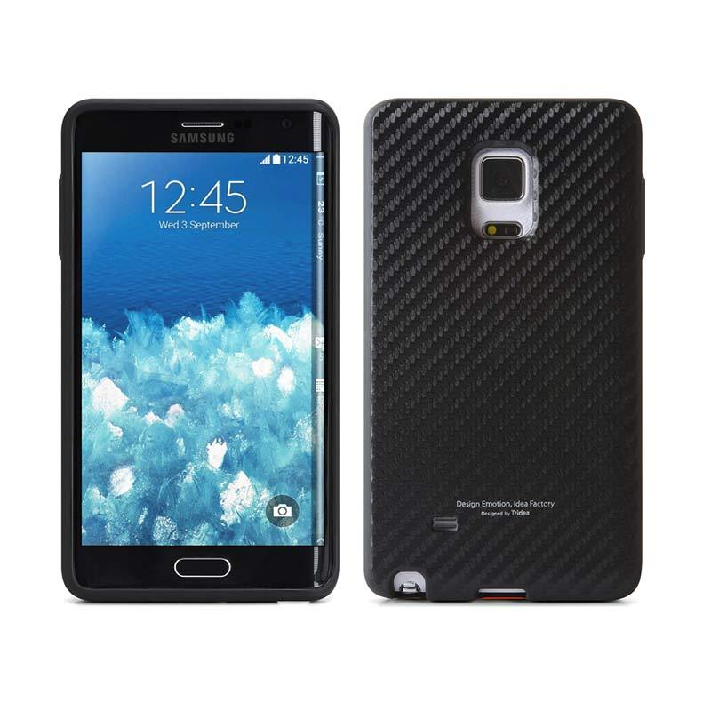 TRIDEA Edge Case Carbon Anti Shock Black Casing for Galaxy Note