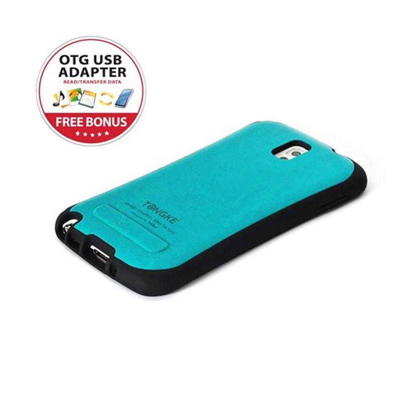 Tridea Galaxy Note 3 Case Italian Leather Pattern Blue Casing
