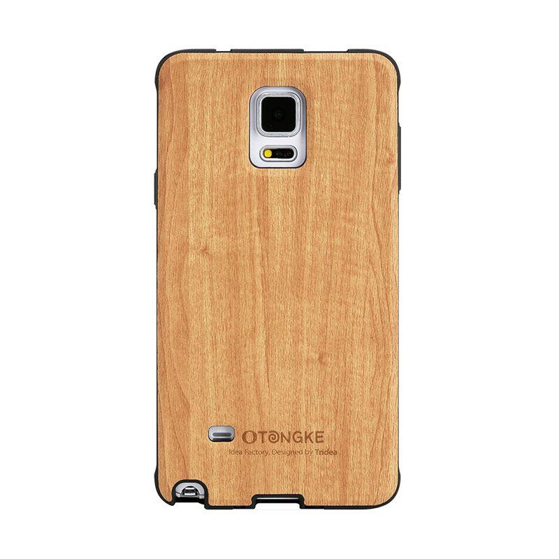 Tridea Galaxy Note 4 Case Italian Wood Pattern Beige Casing