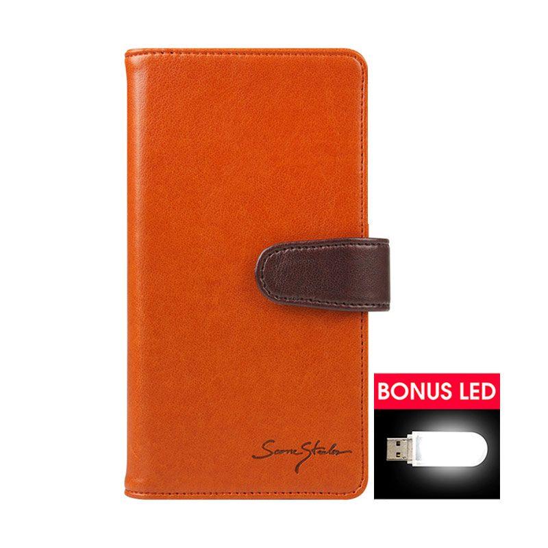 TRIDEA Galaxy Note 4 Galaxy Note Edge Italian Wallet Case Brown Casing