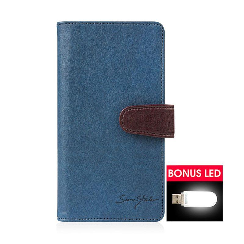 TRIDEA Galaxy Note 4 Galaxy Note Edge Italian Wallet Case Navy Casing