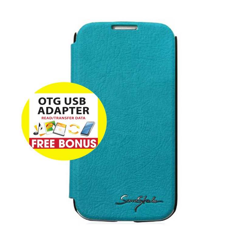 TRIDEA Galaxy S4 Card Pocket IFC Flip Case Biru