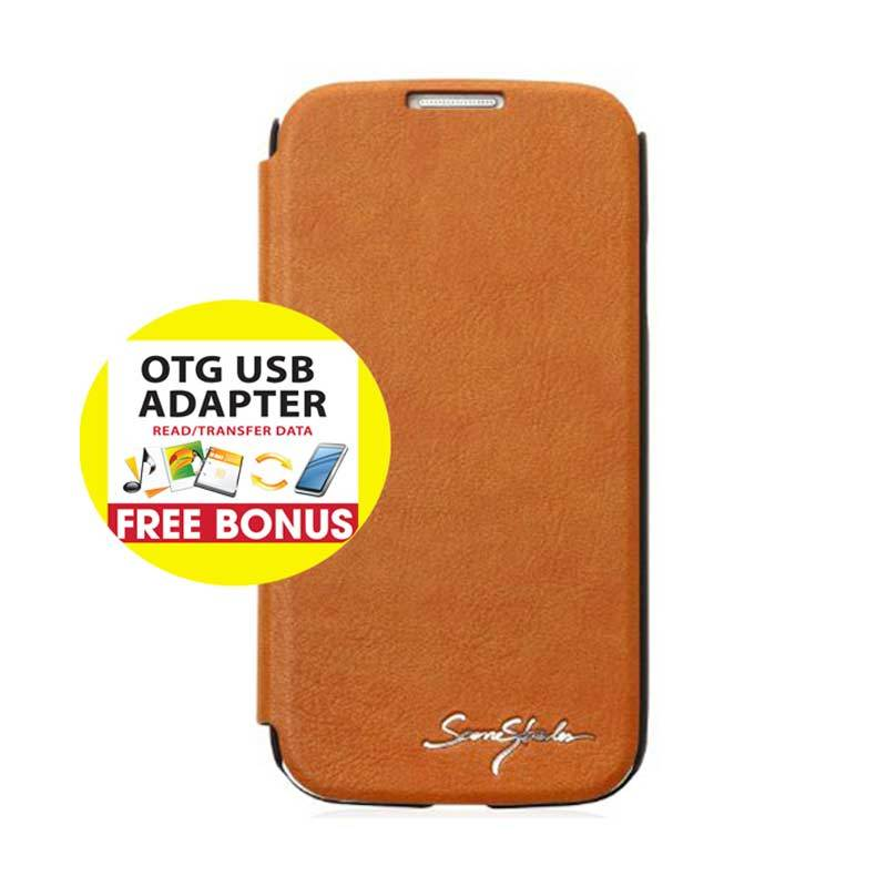 TRIDEA Galaxy S4 Card Pocket IFC Flip Case Brown