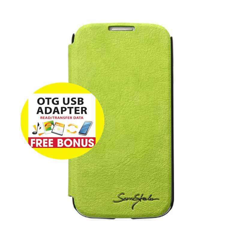 TRIDEA Galaxy S4 Card Pocket IFC Flip Case Lime