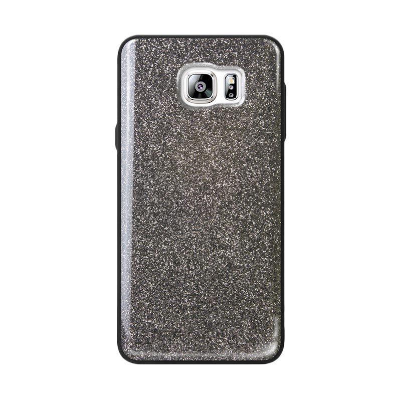 Tridea Glitter Anti Shock Black Casing for Galaxy Note 5