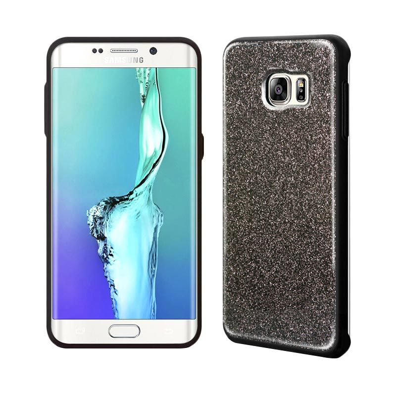 TRIDEA Glitter Anti Shock Black Casing for Galaxy S6 Edge Plus