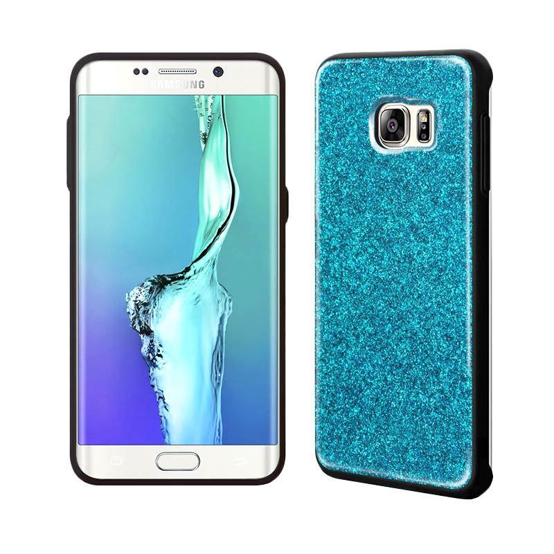 TRIDEA Glitter Anti Shock Blue Casing for Galaxy S6 Edge Plus