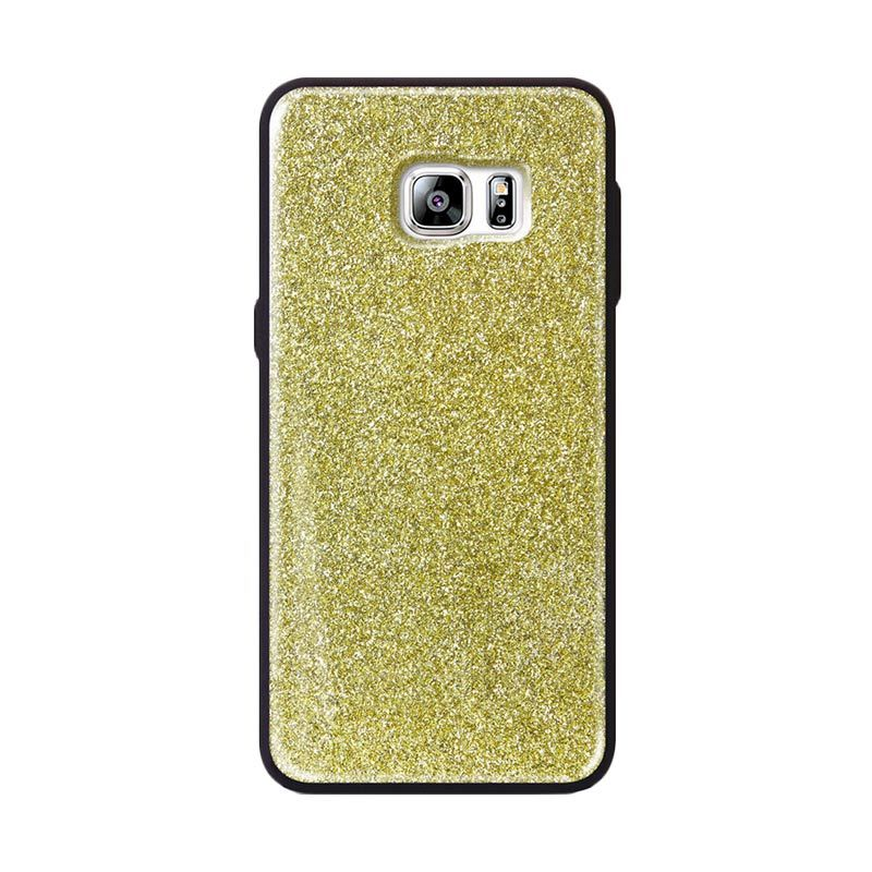 Tridea Glitter Anti Shock Gold Casing for Galaxy S6 Edge Plus
