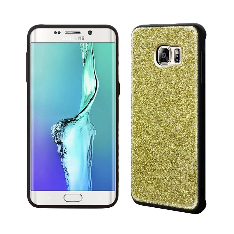 Tridea Glitter Anti Shock Gold Casing for Samsung Galaxy S6 Edge Plus
