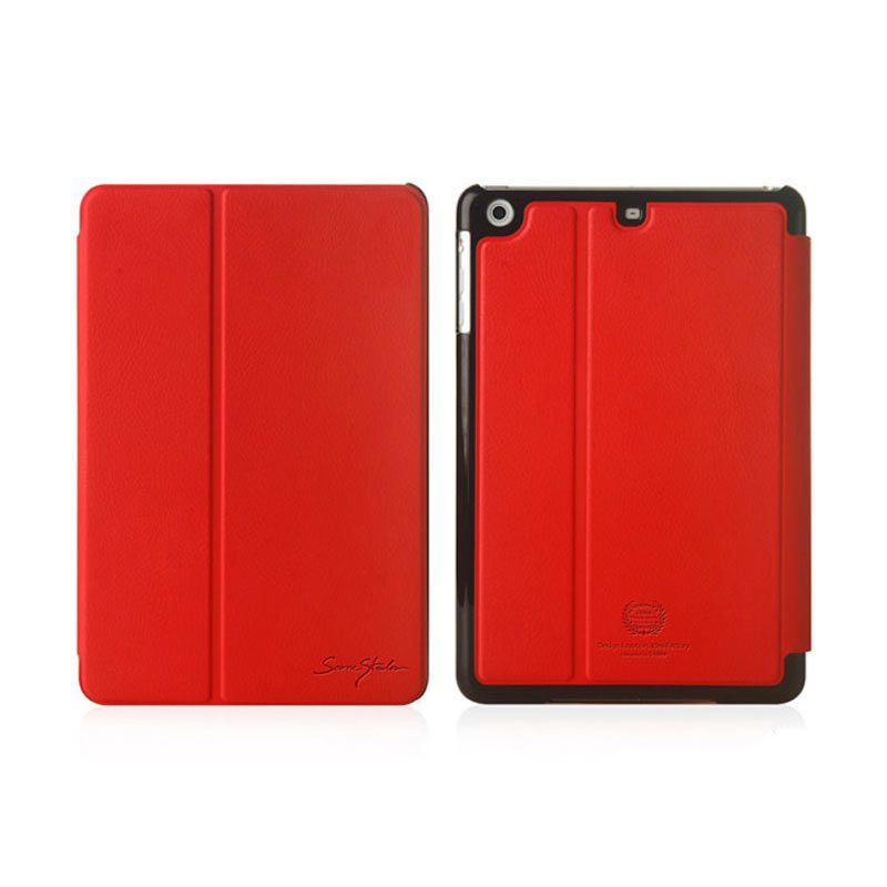 TRIDEA iPad Mini Retina 2 Ways Standing Folder Case Merah