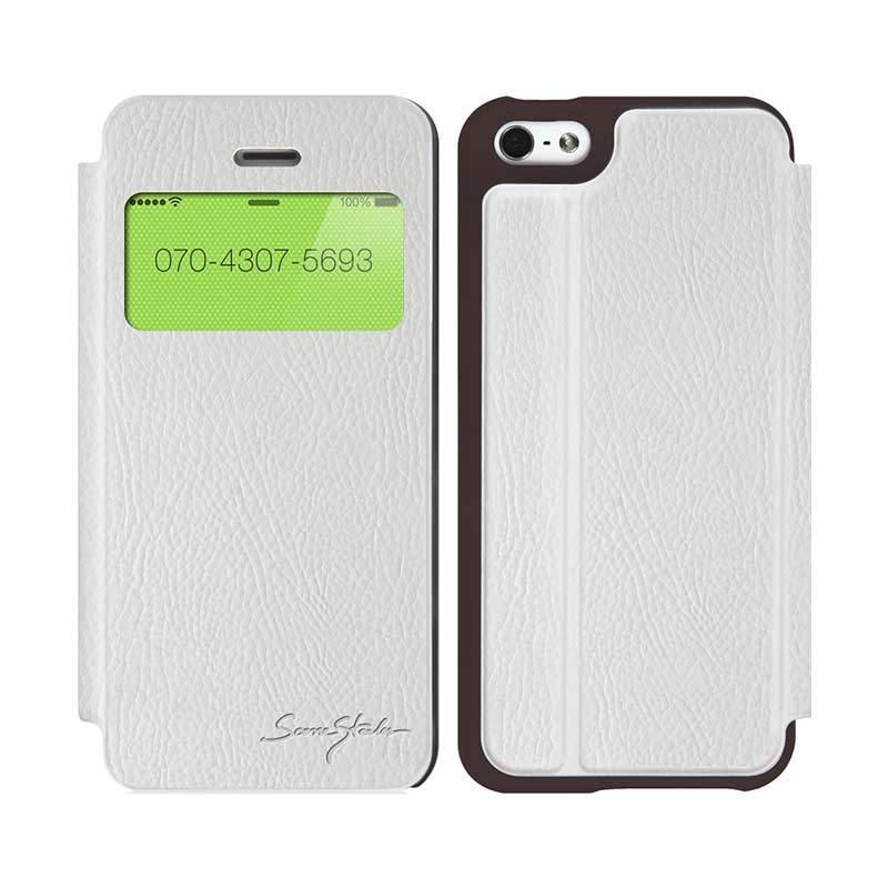 TRIDEA iPhone 5C Standing View Italian Flip Case Putih