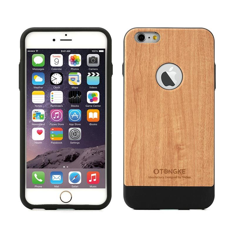 Tridea iPhone 6 Case Italian Wood Pattern Beige Casing