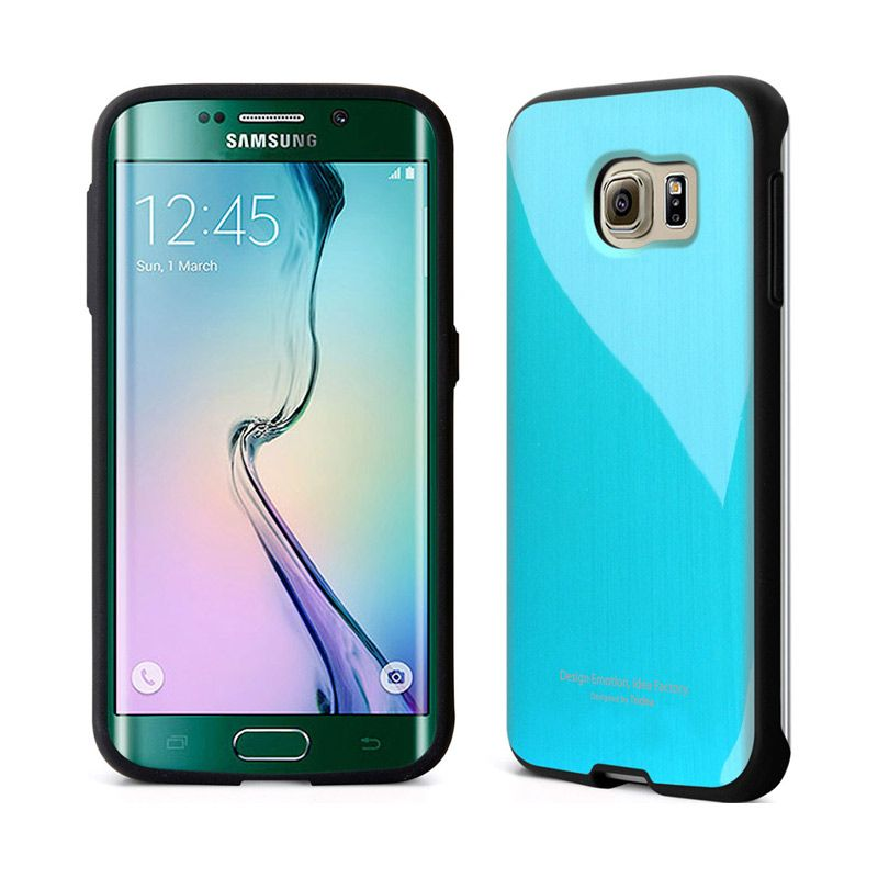 TRIDEA Metallic Blue Casing for Galaxy S6 Edge