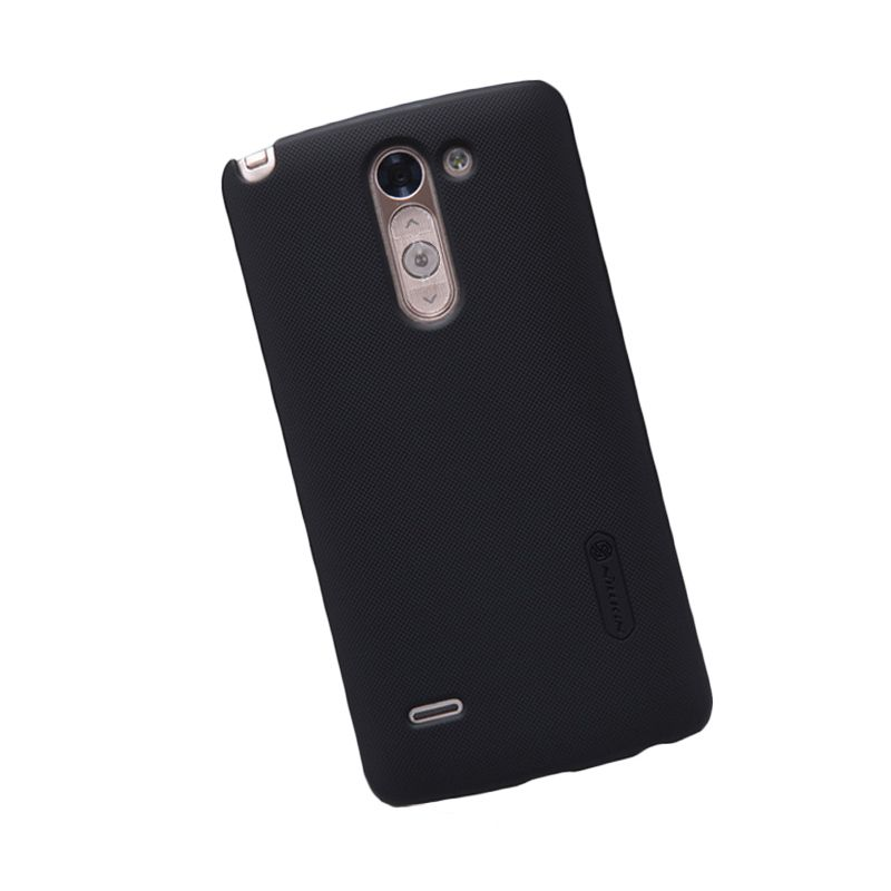 Nillkin Super Frosted Shield Hitam Hard Case Casing for LG G3 Stylus + Screen Protector