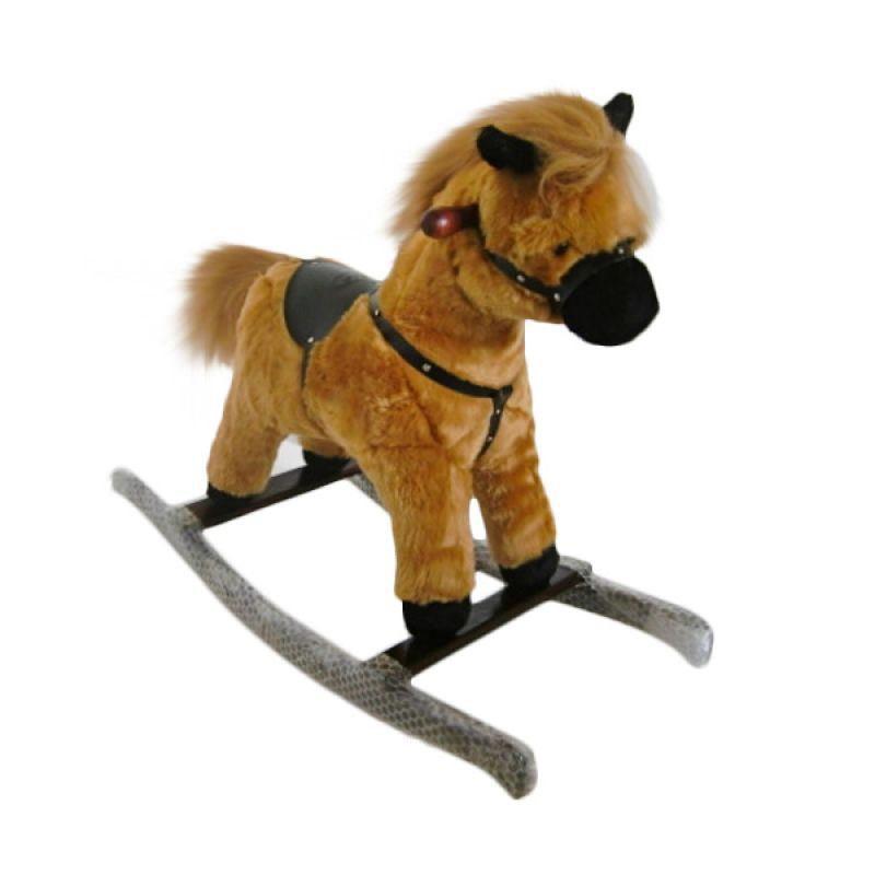 Jilsi Toys Kuda Premium Coklat Mainan Anak