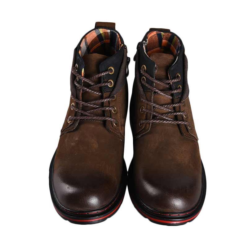Jim Joker Casual Boot Peach 1B Sepatu Pria - Coffee