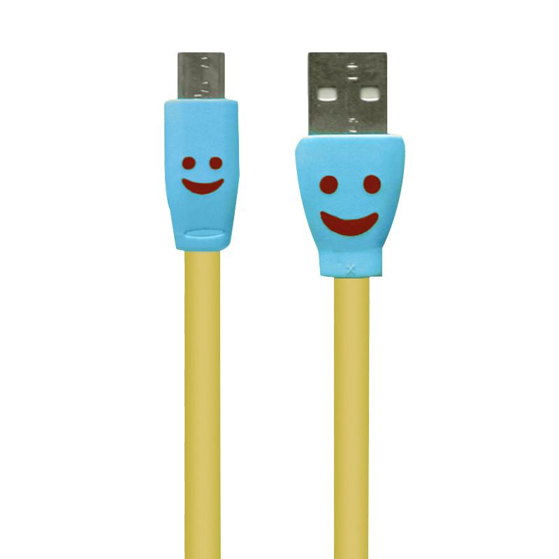 Jireh Flat V8 Smile USB to Micro USB Data Cable [2 meter]