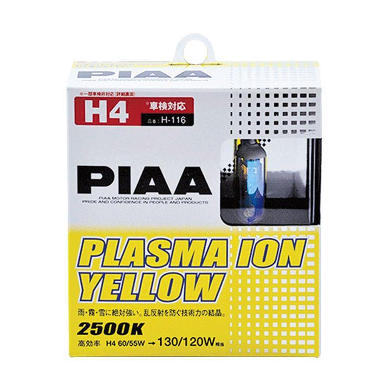 PIAA H4 Plasma Ion Yellow Lampu Bohlam [60/55 Watt]