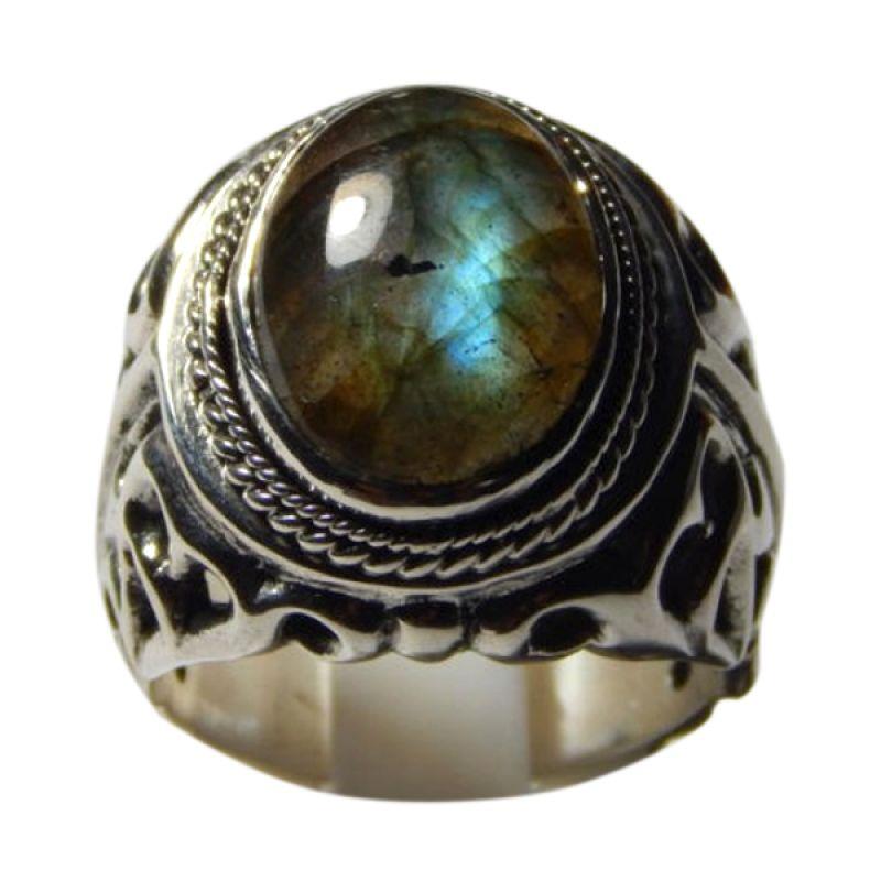 Jnanacrafts Api Batu Labradorite Silver Cincin Pria