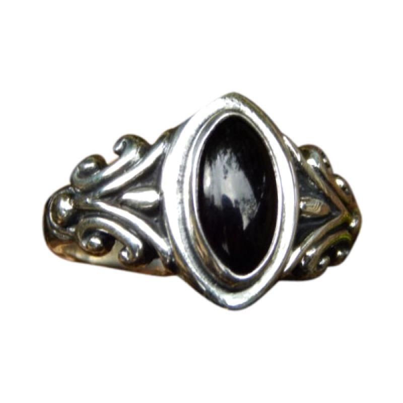 Jnanacrafts Batu Black Onyx Cincin Perak