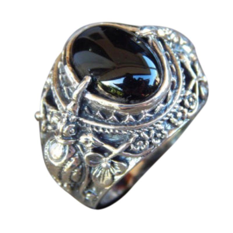 Jnanacrafts Burung Cakrawake Onyx Black Silver Cincin