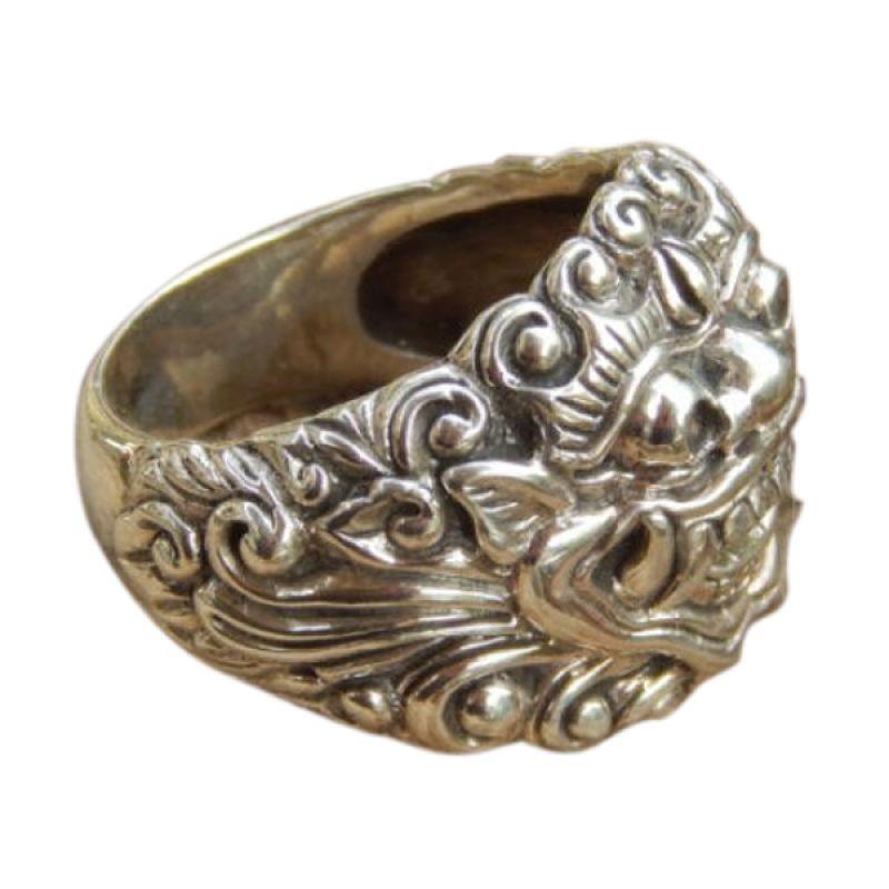 Jnanacrafts Motif Barong Silver Cincin Pria