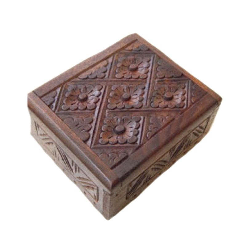 Jnanacrafts Motif Batik Kotak Kayu Tempat Perhiasan [12 x 10]