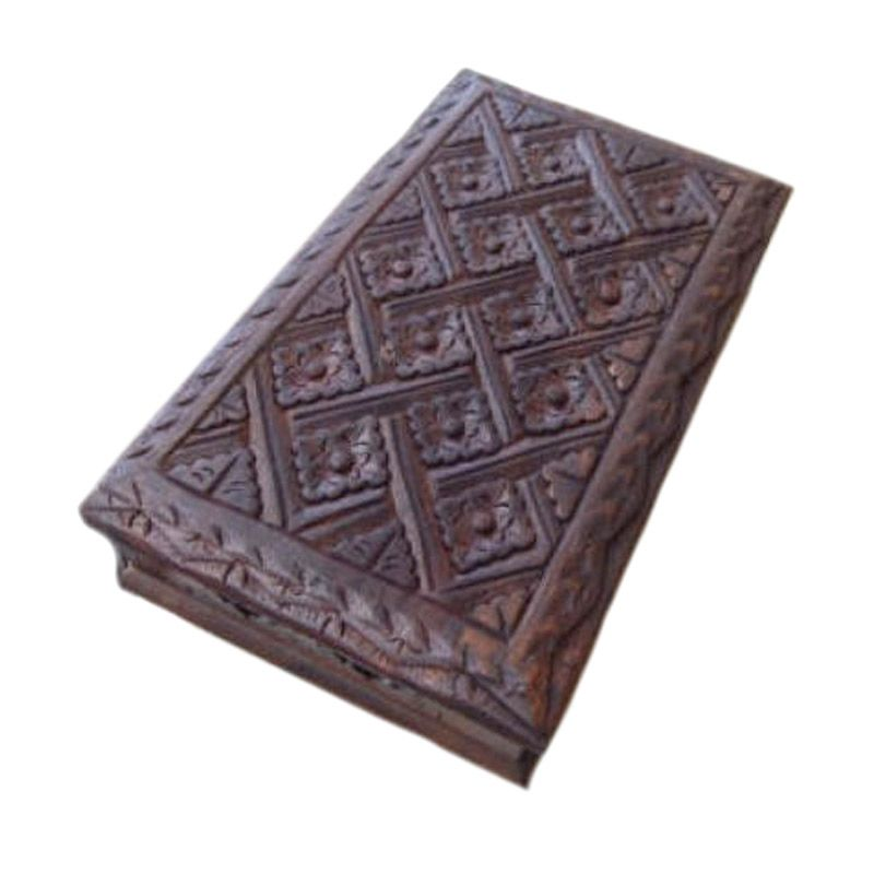 Jnanacrafts Motif Batik Kotak Kayu Tempat Perhiasan [20 x 15]