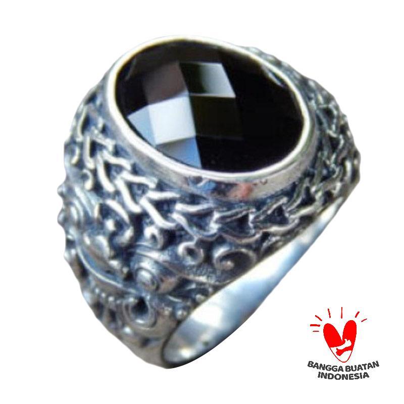 harga Jnanacrafts Motif Boma Batu Black Onyx Checkerboard Cincin Perak Blibli.com