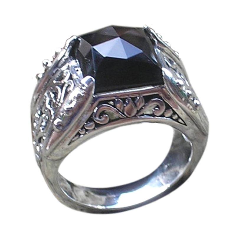 harga Jnanacrafts Motif Ukiran Bali Batu Black Onyx Cincin Perak Blibli.com