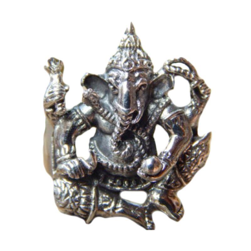 Jnanacrafts Perak Motif Dewa Ganesha Cincin