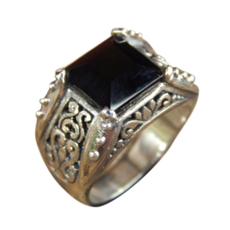 Jnanacrafts Tutul black onyx Silver Cincin