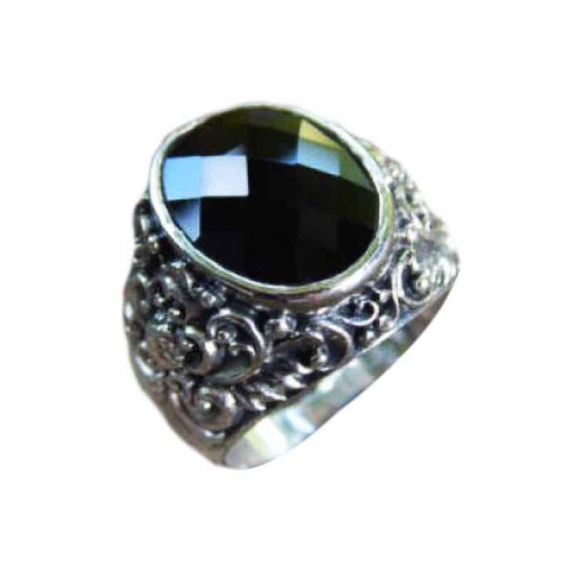 Jnanacrafts Ukir Bali Batu Onyx Black Cincin