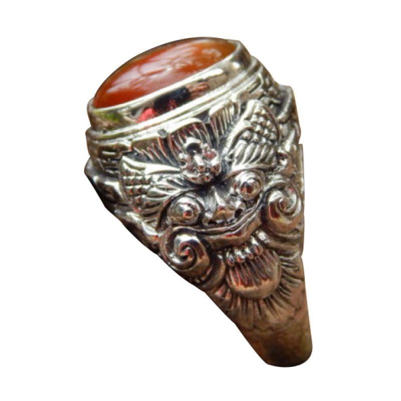 Jnanacrafts Ukiran Bali boma Silver Cincin