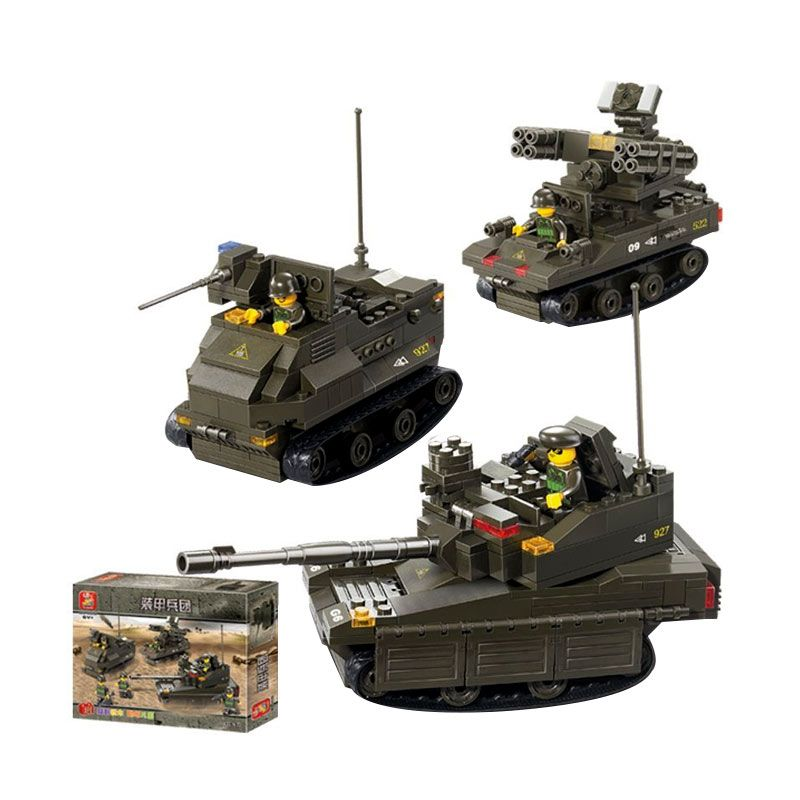 Sluban Armored Corps United Military Exercise M38-B0290 Mainan Anak [602 Pcs of Brick]