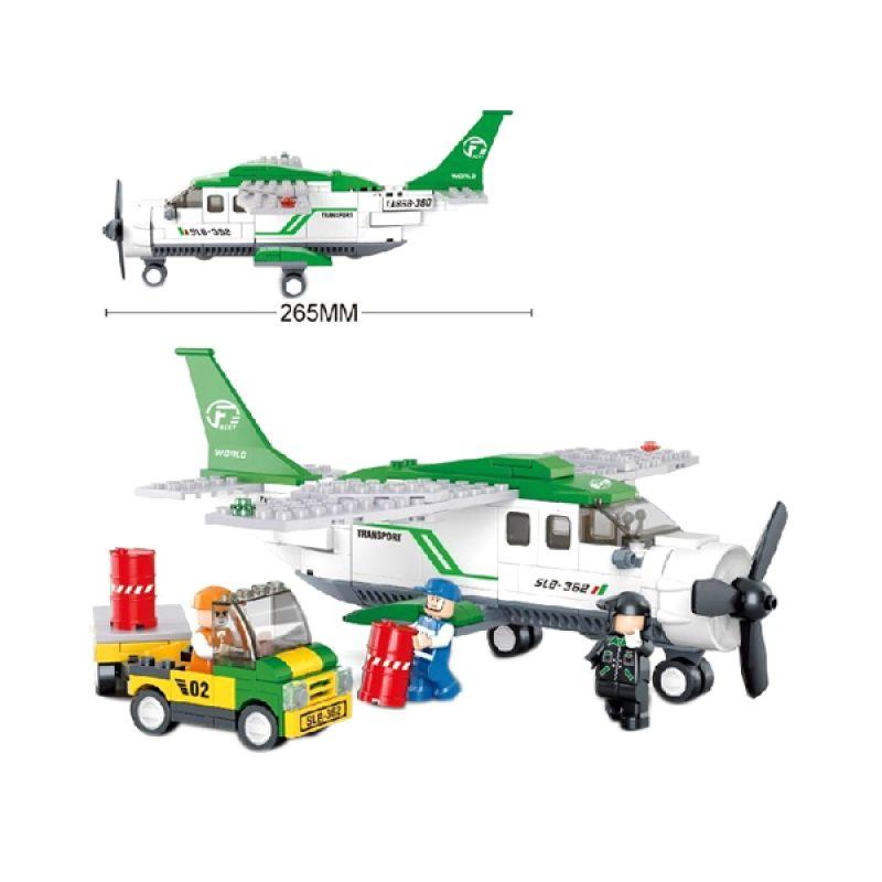 Sluban Aviation C Mini Transport Plane M38-B0362 Mainan Anak [251 Pcs of Brick]