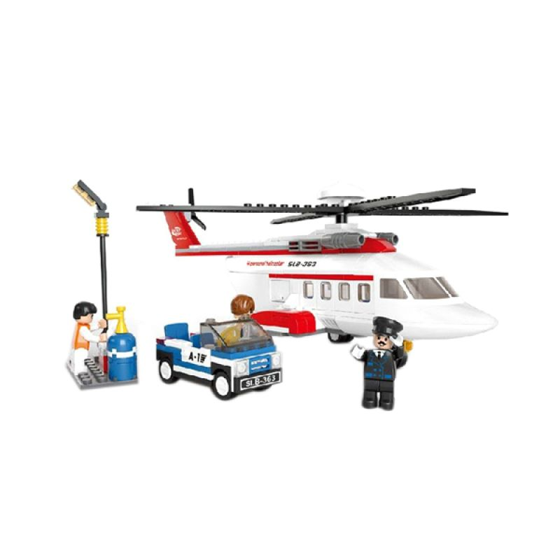 Sluban Aviation H Personal Helicopter M38-B0363 Mainan Anak [259 Pcs of Brick]