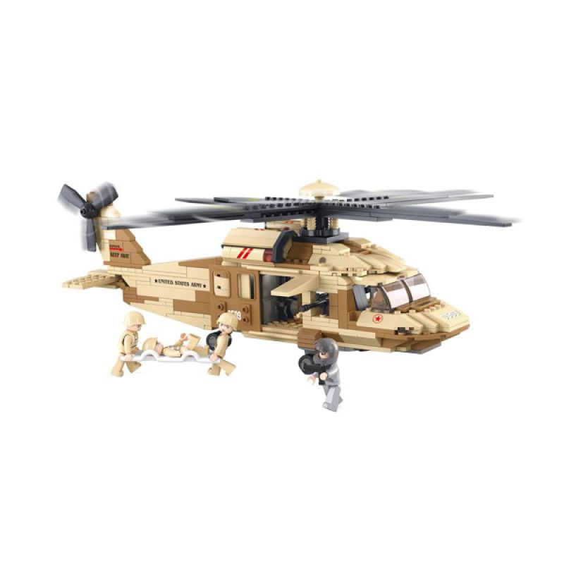 Sluban Black Hawk Helicopter M38-B0509 Mainan Anak [439 Pcs of Brick]