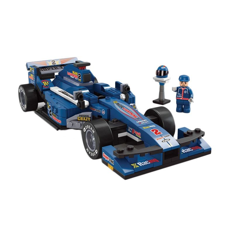 Sluban F1 Blue Lightning M38-B0353 Mainan Anak [287 Pcs of Brick]