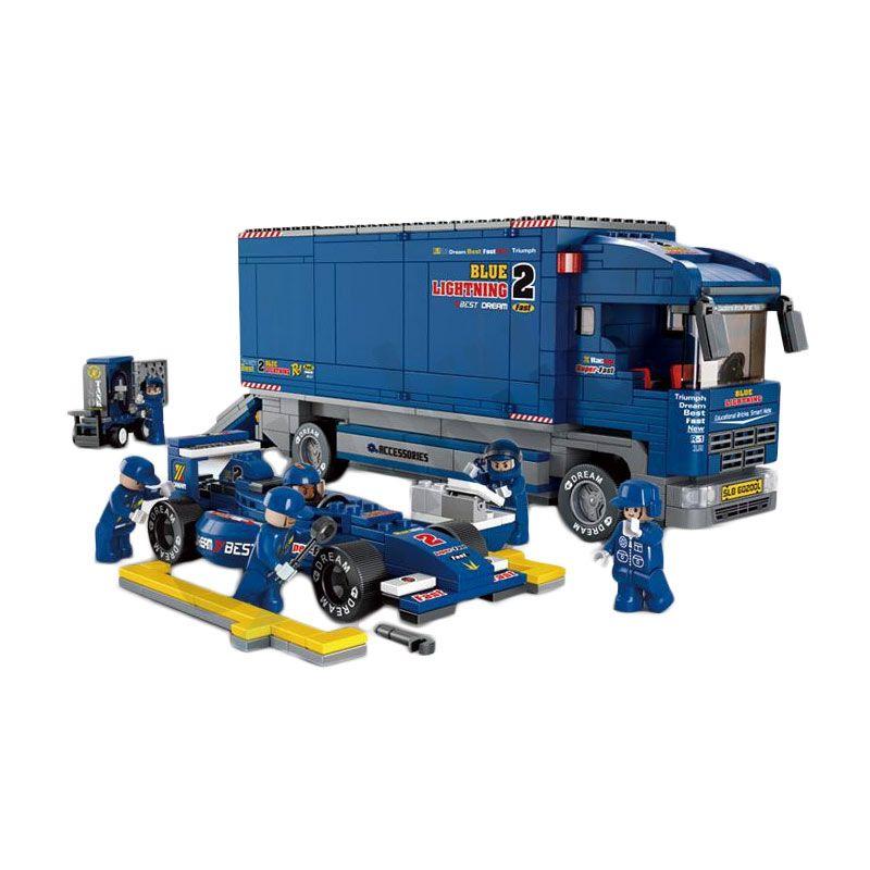 Sluban F1 Blue Lightning Racing Truck M38-B0357 Mainan Anak [641 Pcs of Brick]