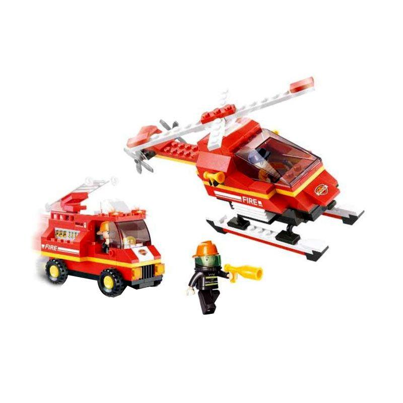 Sluban Fire Alarm Airport Firehouse M38-B219 Mainan Anak [211 Pcs of Brick]