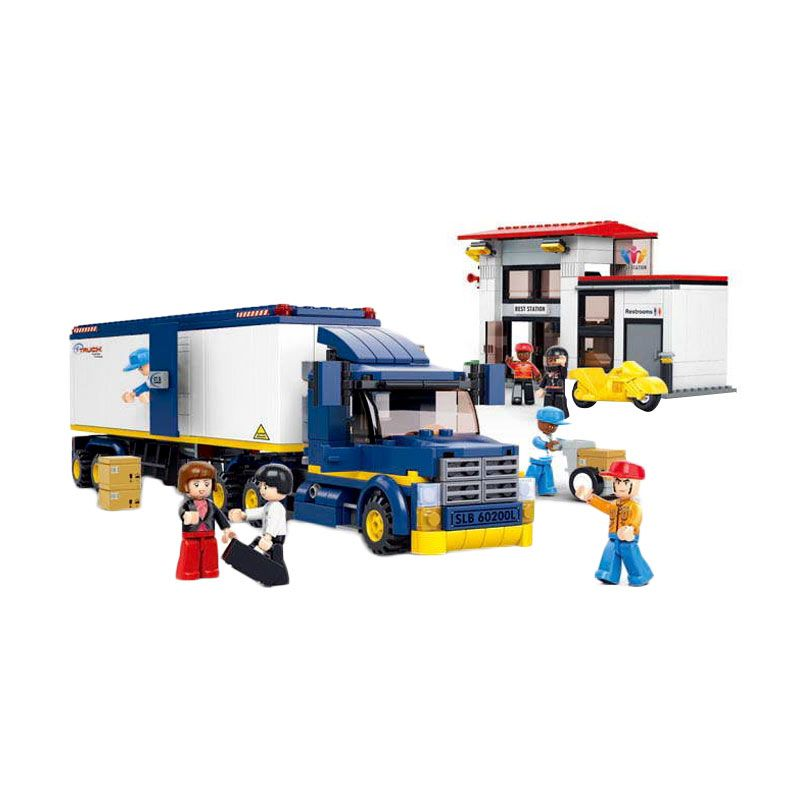 Sluban Heavy Duty Van Truck M38-B0318 Mainan Anak [537 Pcs of Brick]