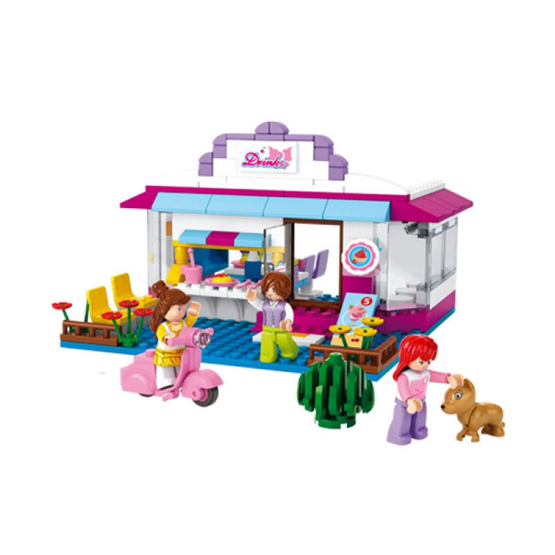 Sluban New Girl's Cafe M38-B0528 Mainan Anak [226 Pcs of Brick]