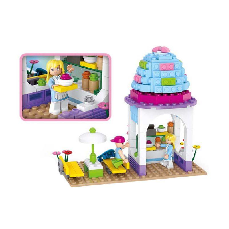 Sluban New Girls Dream Ice Cream Shop M38-B0525 Mainan Anak [205 Pcs of Brick]